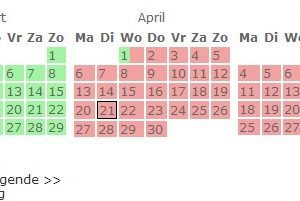 boekingskalender reserveringskalender