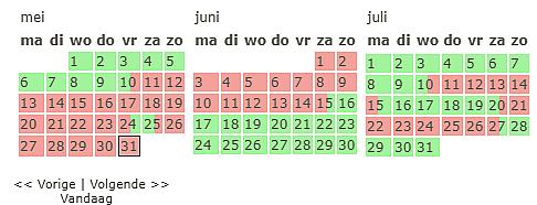 verhuurkalender